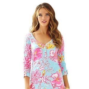 Lily Pulitzer NWOT Pima cotton floral dress XXS